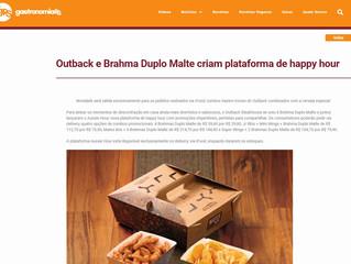 Outback e Brahma Duplo Malte criam plataforma de happy hour
