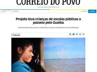 Projeto leva crianças de escolas públicas a passeio pelo Guaíba