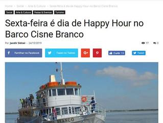 Sexta-feira é dia de Happy Hour no Barco Cisne Branco