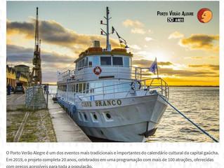Barco Cisne Branco recebe pela primeira vez a bordo o Porto Verão Alegre