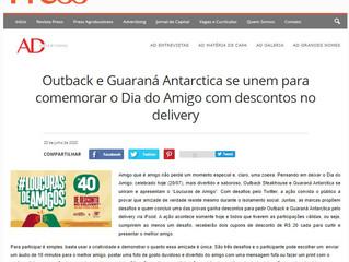 Outback e Guaraná Antarctica se unem para comemorar o Dia do Amigo com descontos no delivery
