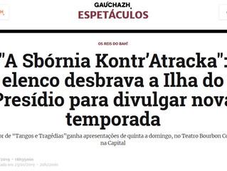"""""""A Sbórnia Kontr'Atracka"""": elenco desbrava a Ilha do Presídio para divulgar nova temporada"""