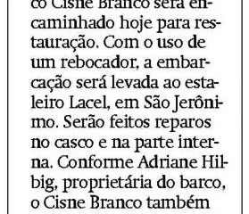 Cisne Branco Irá para estaleiro - Metro Jornal
