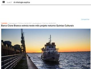 Barco Cisne Branco estreia neste mês projeto noturno Quintas Culturais