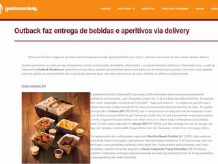 Outback faz entrega de bebidas e aperitivos via delivery
