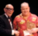 John Archer and Ali Bongo. Presentation of Magic Circle Stage Magician of The Year Award