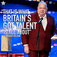 John Archer on Britain's Got Talent with quote from Amanda Holden