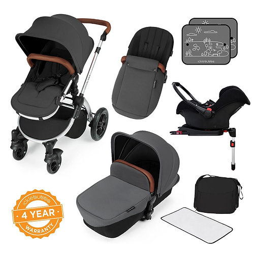 Stomp V3 Graphite Grey All In One Travel System With Isofix Base