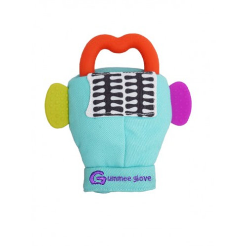 Turquoise Gummee Glove inc Red Silicone Heart