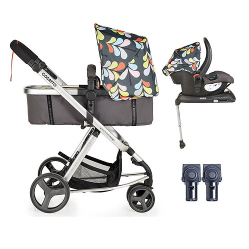 Cosatto Giggle Mix Whole 9 Yards Accessories & Hold ISOFIX Bundle (Nordik)