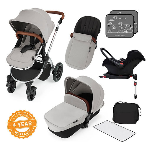 Stomp V3 Silver All In One Travel System With Isofix Base