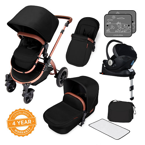 Stylish i-Size Travel System Bundle With Isofix base – Stomp V4 Special Edition-