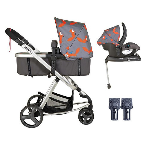 Cosatto Giggle Mix Whole 9 Yards Accessories & Hold ISOFIX Bundle (Mister Fox)
