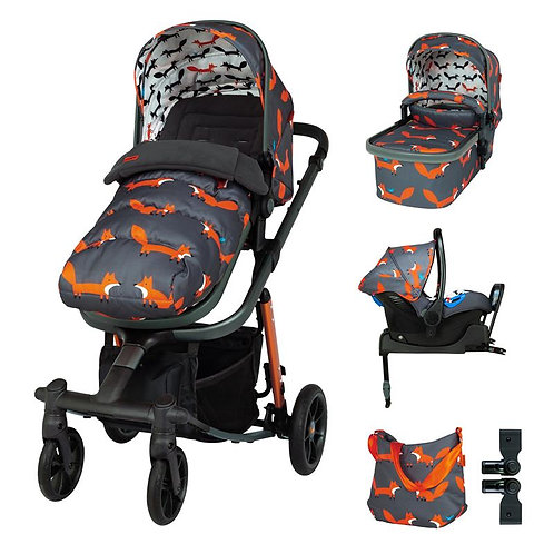 Cosatto Giggle Quad Everything Isize Bundle (Charcoal Mister Fox)