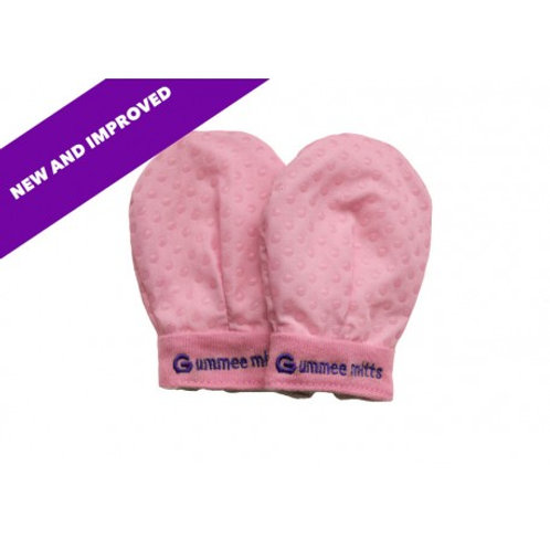 Anti-scratch Teething Mittens Pink (0-3 months)