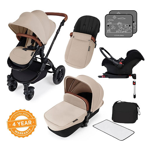Stomp V3 Sand All In One Travel System With Isofix Base