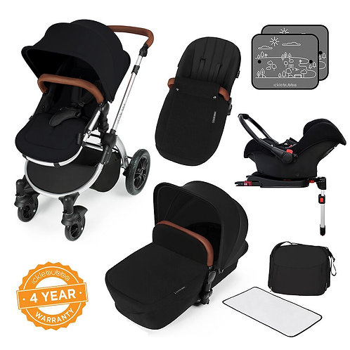 Stomp V3 Black All In One Travel System With Isofix Base