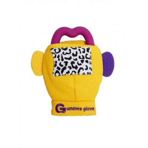 Yellow Gummee Glove inc Purple Silicone Heart