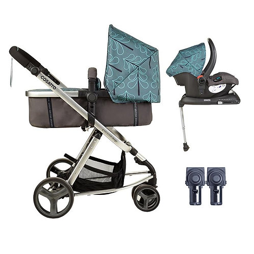 Cosatto Giggle Mix Whole 9 Yards Accessories & Hold ISOFIX Bundle (Fjord)