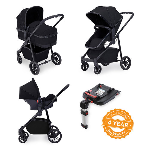 Moon 3-in-1 Travel System with Isofix base- Black
