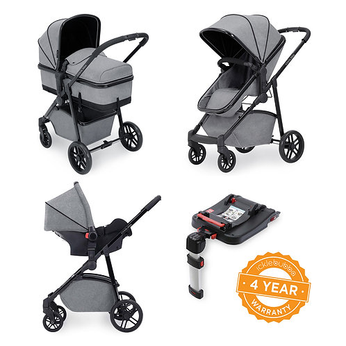 Moon 3-in-1 Travel System with Isofix base- Space Grey