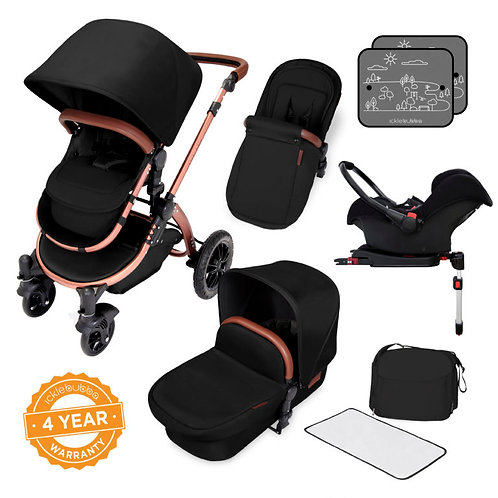 Stomp V4 Special Edition Travel system with Isofix- Midnight