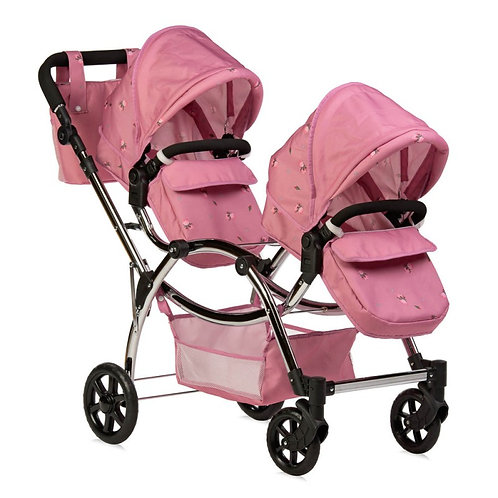 Roma Darcie Twin Dolls Pram - Pink 3-16 years