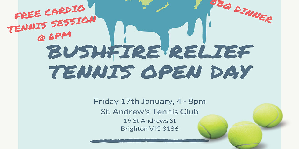 Bushfire Relief Tennis Open Day