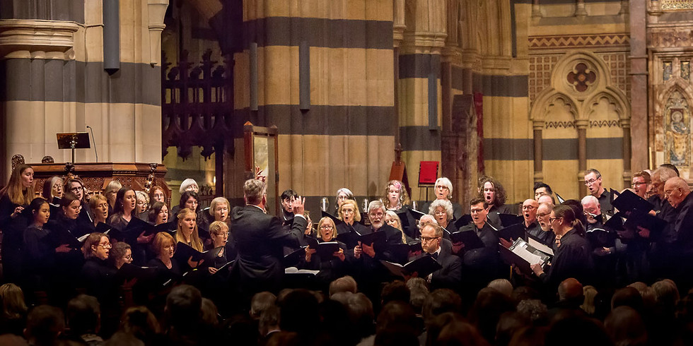 Bach to Bowman. Music for choir, brass and organ