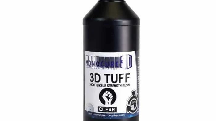 Monocure3d  Tough  clear 1 Liter  Rapid Resin