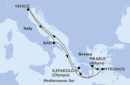 Italia, Grecia  MSC POESIA