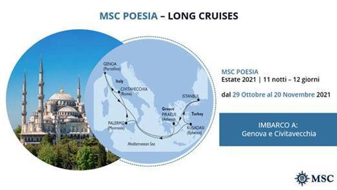 MSC POESIA DAL 29 OTTOBRE AL 20 NOVEMBRE