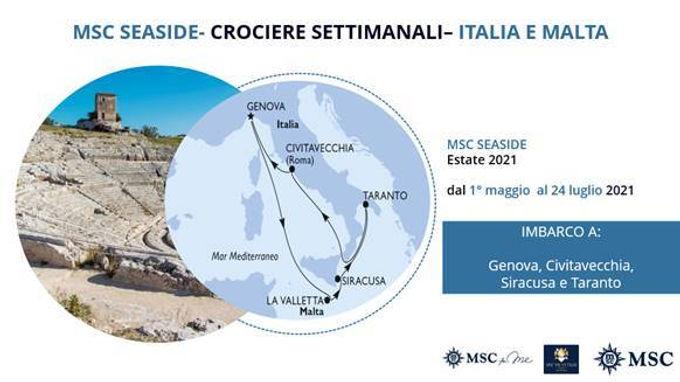MSC SEASIDE FINO AL 24 LUGLIO