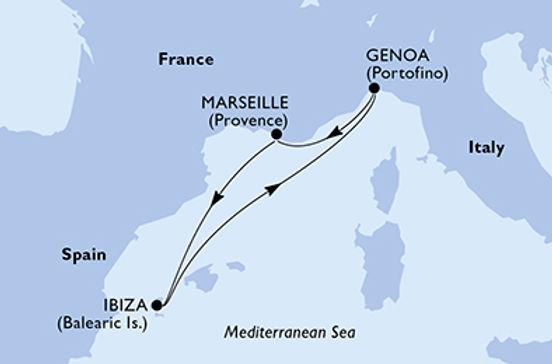 Italia, Francia, Spagna MSC MUSICA (mini crociera) 12 ottobre