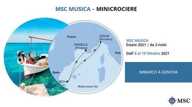 MSC MUSICA MINICROCIERE  DAL 8 AL 19 OTTOBRE