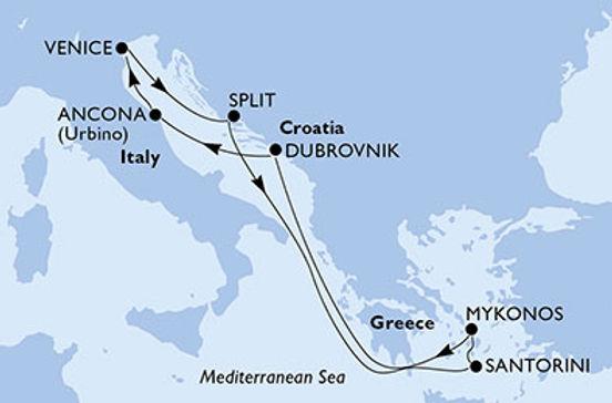 Italia, Croazia, Grecia MSC LIRICA