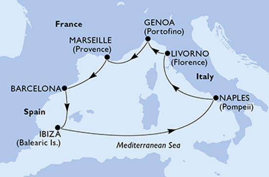 Italia, Francia, Spagna MSC SEASIDE