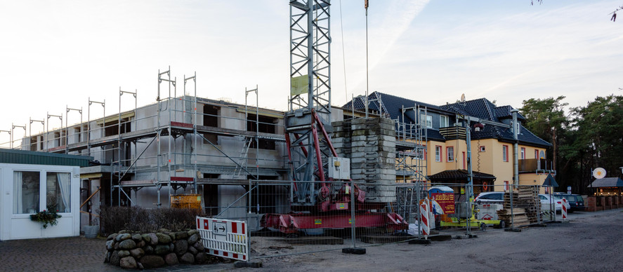 Fischland/Darß: Baufortschritt Januar '19