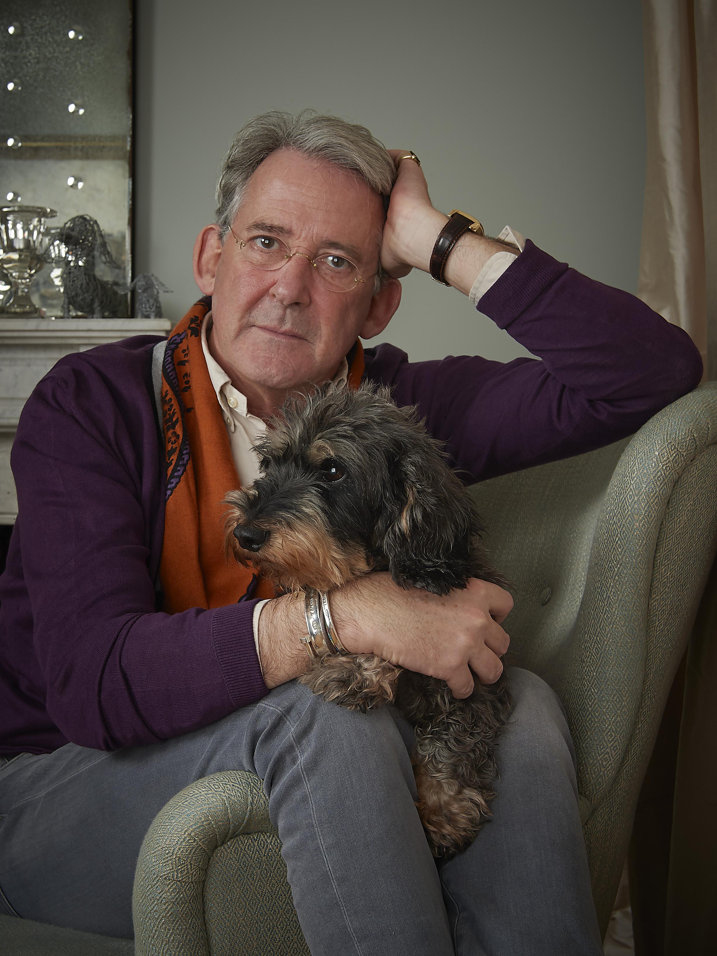 Rein Dunselman met hond