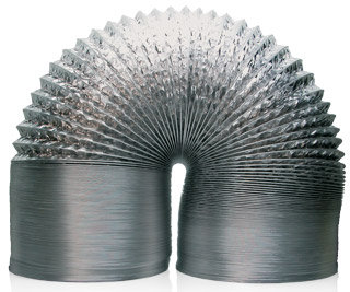 Hydrofarm Non-Insulated Air Ducting 25' w/ Clamps