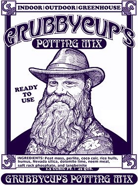 Grubby Cup's Potting Mix - 1.5 Cubic Feet
