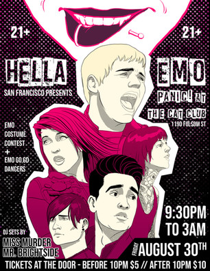 GigPo_Hella Emo SF Panic! at the Cat Clu