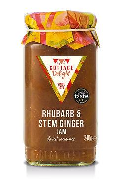 CD100044 Rhubarb & Stem Ginger Jam 340g.