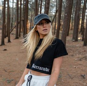 Black & White Crop Tops // Barracuda Distressed Hat