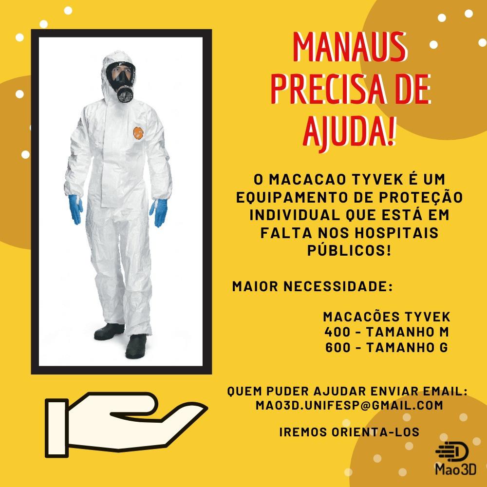 Ajude Manaus com Vestes Médicas