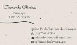 Psicologia Fernanda Oliveira