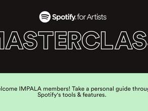Webinář Spotify Masterclass pro členy Platformy zdarma! Nezapomeňte se zaregistrovat!