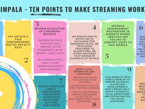 IMPALA představila 10 bodů pro vylepšení streamingu ve prospěch umělců