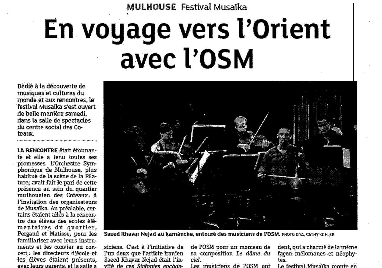 L'OSMhors des sentiers battus ! mulhouse symphonicorchestra france may 16, 2015