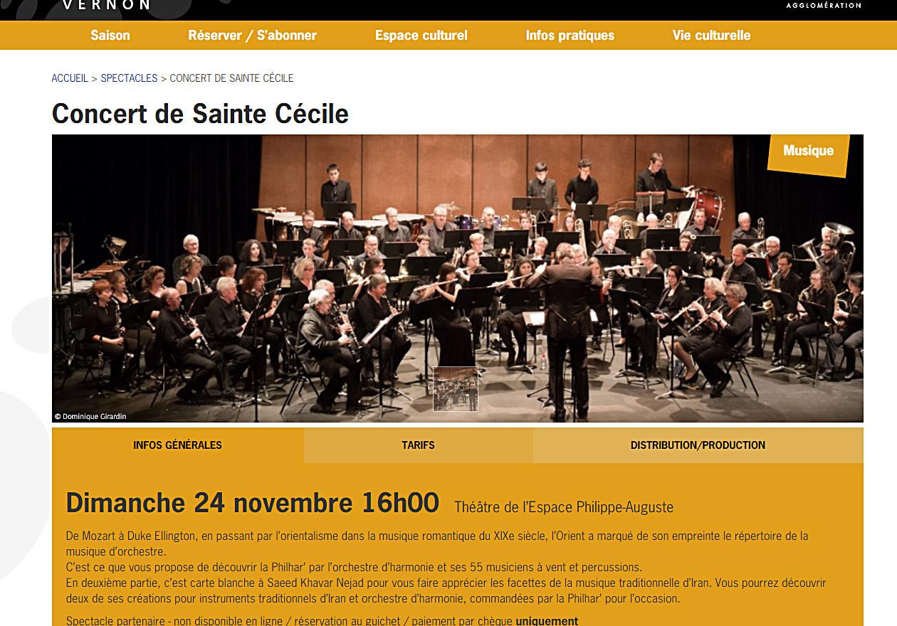 VERNON PHILHAR ORCHESTRA Théâtre de l'Espace Philippe-Auguste 24novembre, 2019